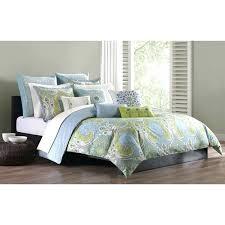 echo design sardinia green blue cotton duvet cover mini set seafoam duvet covers