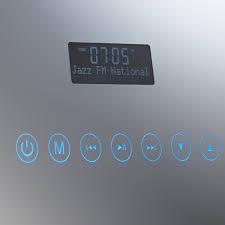 roper rhodes designer audio dab radio bathroom mirror audio function detail