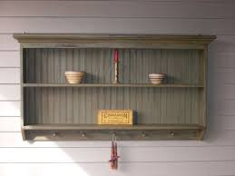 double wall shelf primitive 5 peg