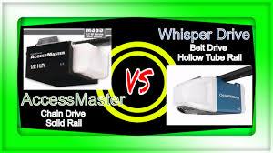 chain drive vs belt drive garage door openerGarage Door Opener Face Off Access Master Chain Drive