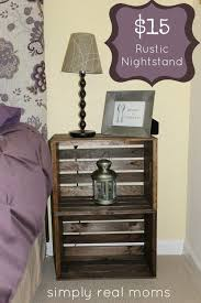 ideas bedside tables pinterest night: love the idea of rustic crates painted and distressed or stained perfect side tables for the couch because you can use them for storage or display
