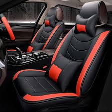 8pcs pu leather car full surround seat cover cushion