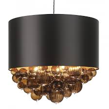 special custom made to order design elegant centrepiece contemporary satin drum pendant mocha featured cer of art glass smoked spheres shade size