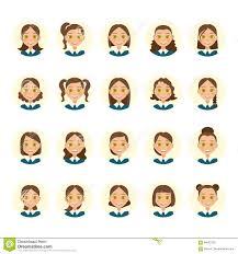 De Kapsels Van Vrouwen Mooie Jonge Vrouw Met Diverse Haarstijlen