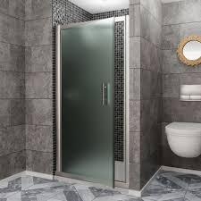 frosted pivot shower door