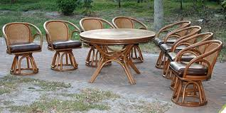 vintage brown jordan rattan dining set