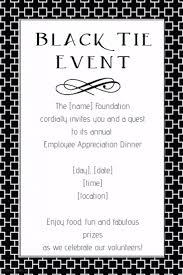 Black Tie Fundraiser Event Flyer Invitation Dinner Template
