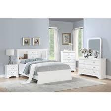 Esofastore Modern White 4pc Set Bedroom Furniture Full Size Bed ...