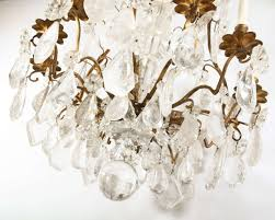 a louis xv period gilded bronze rock crystal chandelier in good condition for in rome