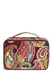 image of vera bradley large blush and brush makeup case