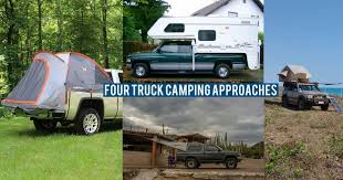 discussing the pros and cons of four common approaches to truck camping