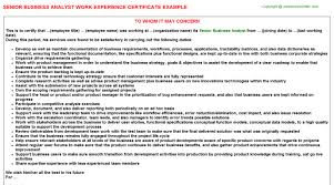 Sap Business Analyst 3 Production Planning Work Experience Certificates