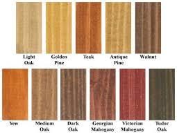 Rustins Wood Dye Colour Chart 2019