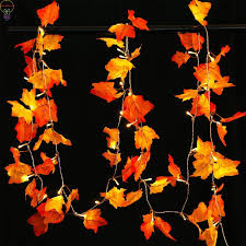 Fall Garlands With Lights Hot Item Thanksgiving Harvest Fall Garlands String Lights Maple Leaf String Lights