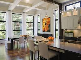 Floor To Ceiling Kitchen Designs The Open Floor Plan History Pros And Cons