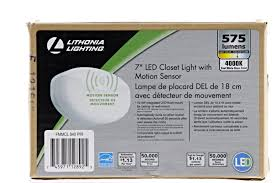 details about white led motion sensor flushmount closet light 7 in round bright wall mounted