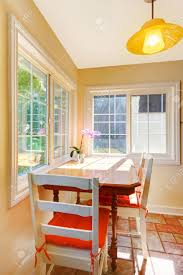 Small Kitchen Dining Table Cozy Dining Table Breakfast Area In The Small Kitchen Stock Photo