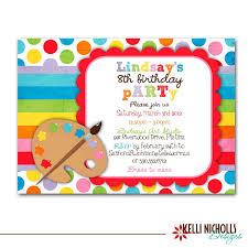 8th Birthday Party Invitations Printable Art Birthday Party Invitations Download Them Or Print