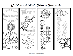 It's time to get festive with a set of printable santa bookmarks. Free Christmas Bookmarks To Color Cultured Palate