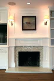 refinish brick fireplace reface refacing brick fireplace with marble tile