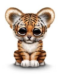 cute baby tiger. Wonderful Baby Tiger Poster Featuring The Digital Art Cute Baby Cub By Jeff Bartels With