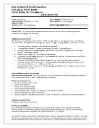 job description for bank teller resume resume for bank teller