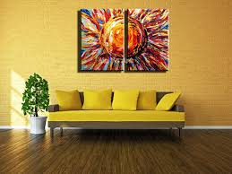 Decorative vintage Acrylic paint Abstract 2 piece canvas wall art oil  painting on canvas for wall