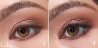 step 3 take a brown eyeliner pencil and trace around your upper lash line and the outer third of your lower lash line slightly extending the line at the
