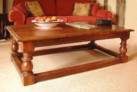 traditional style oak coffee table with chunky classical baer turned legs