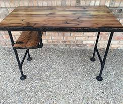 rustic reclaimed barn picket pc desk desk w shelf cast very wellw 28 black iron pipe legs whats integrated for your acquire cast very wellbest w black iron pipe table