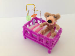 kids dollhouse furniture. How To Make A Pipe Cleaner Baby Crib Kids Dollhouse Furniture
