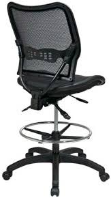 office drafting chair. Space Seating Deluxe Full Mesh Drafting Chair [13-77N30D] Office Drafting Chair