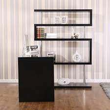 corner desk home office furniture. Picture Of Rotating Home Office Corner Desk And Shelf Combo Black Furniture