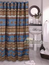 Southwest Bathroom Decor Southwestern Shower Curtain Sierra Ranch Luxury Shower Curtain