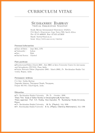 Curriculum Vitae Examples Example Of A Cv Format In South Africa Template Newest Snapshot Also 18