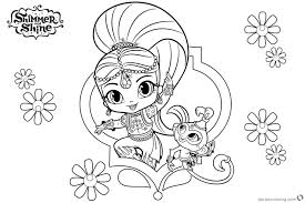 Bring home adventures of the but your child can create delightful, colorful art inside with this printable shimmer and shine. Shimmer And Shine Coloring Pages Leah Printable Book Animals Halloween Genie Nahal Golfrealestateonline