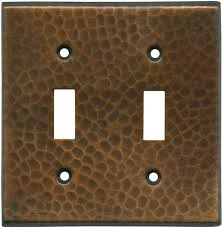 decorative hammered in antique copper light switch covers plate outlet wallplates in stock ready to ship copper light switch plates e46