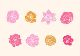 camelia flower vector on flowers wall art decor vector with flowers free vector art 13282 free downloads