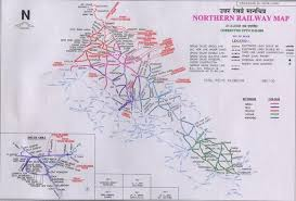 northern india rail map india mappery