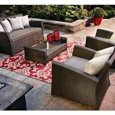 patio furniture santa cruz rectangle fire pit top post