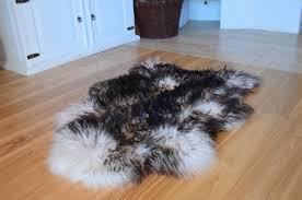 black sheepskin rug. Icelandic Sheepskin Rug Black-White Curly Black
