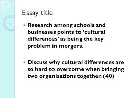managing change key influences on the change process culture  27 essay title research among schools and businesses points to cultural differences as being the key problem in mergers discuss why cultural differences