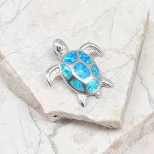 the opal turtle pendant
