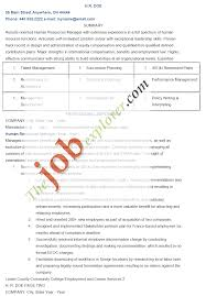 Sample Human Resources Manager Resume Template