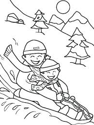 Winter Preschool Coloring Pages Free Smithfarmspacom
