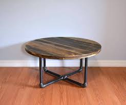 Each of the coffee tables take two pallets to make. Pallet Round Coffee Table