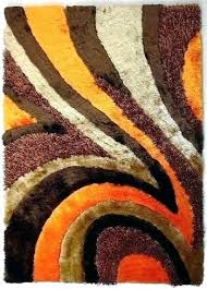 rugs with orange accents area burnt and brown target rug home 7 x 3 best of amusing o