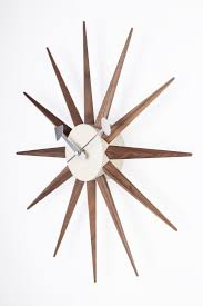 DETAILS A retro design clock perfect for your home or office, featuring  Rays of darkly. Sunburst ClockGeorge NelsonMid ...