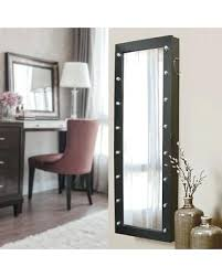 Wall Mount Jewelry Armoire With Mirror New View Marquee  Floor Over The Door Cabinet White  Wall Mounted Jewelry Cabinet C12