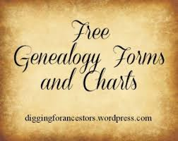 Free Ancestral Charts Free Genealogy Forms And Charts Digging For Ancestors